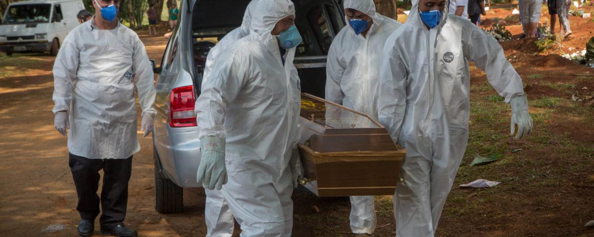 Brasil bate recorde e registra 204 novas mortes por coronavírus em 24 horas