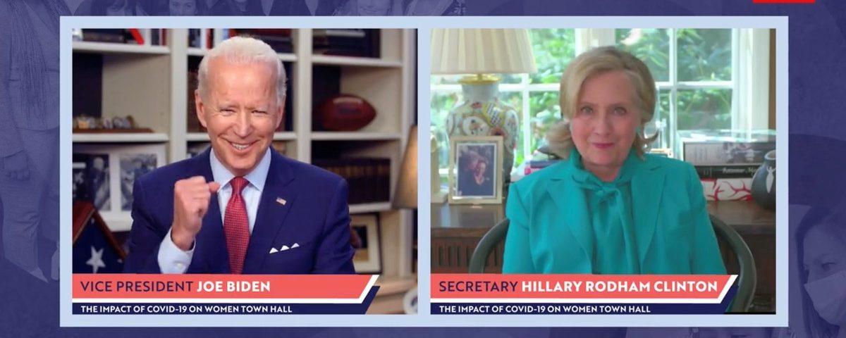 Hillary Clinton anuncia apoio a Joe Biden na disputa presidencial nos Estados Unidos