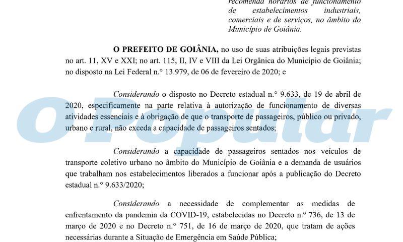 Leia na íntegra os decretos de programação e inspeção do Covid-19 em Goiânia