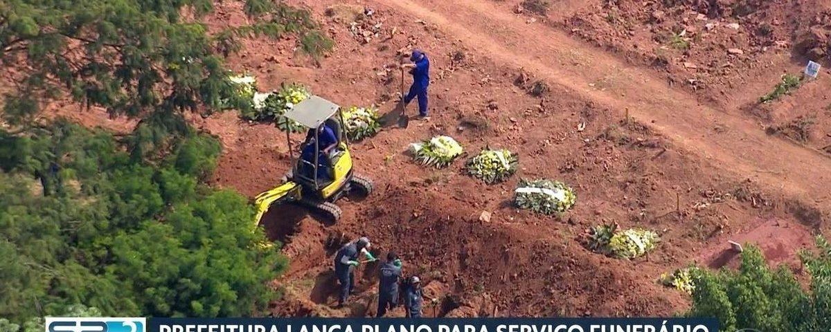 Prefeitura de SP suspende funerais para vítimas de coronavírus e autoriza enterros noturnos