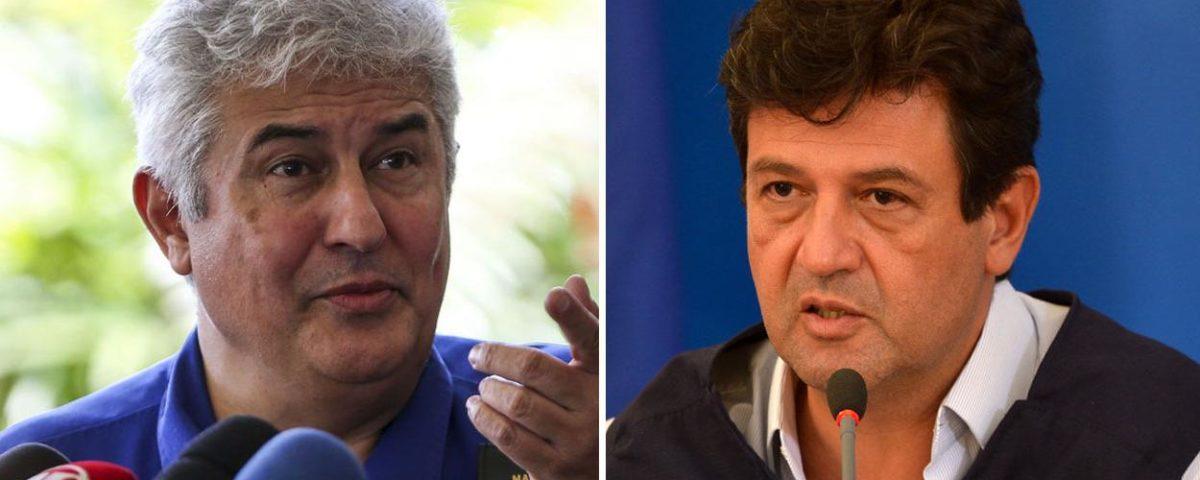 """""""O vermífugo mata vírus"""", diz Mandetta, depois que Marcos Pontes sugere que o vermífugo Annita trate o vírus infectado por coronavírus."""