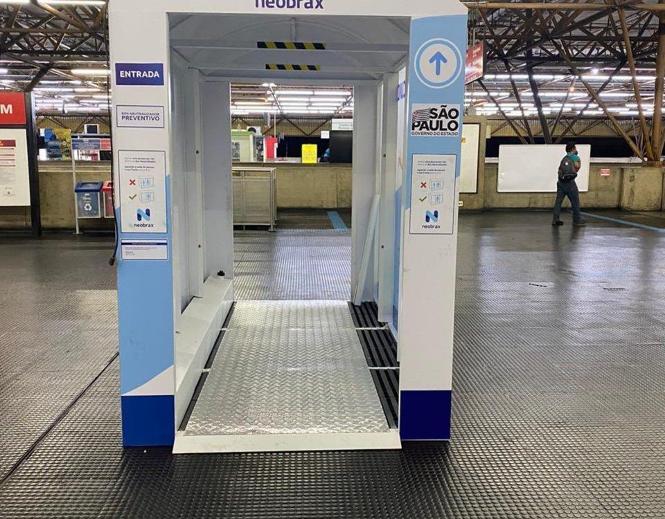 Estações SP CPTM e Metrô recebem 'cabines de saneamento' contra coronavírus
