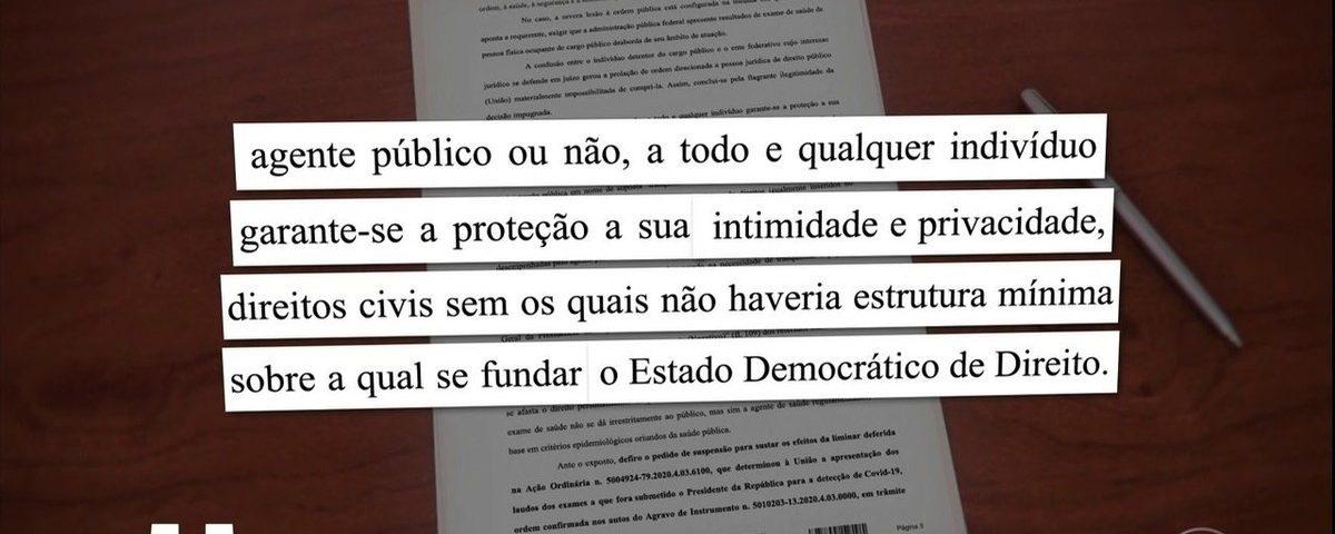 Governo entrega testes de coronavírus de Bolsonaro ao Supremo Tribunal Federal