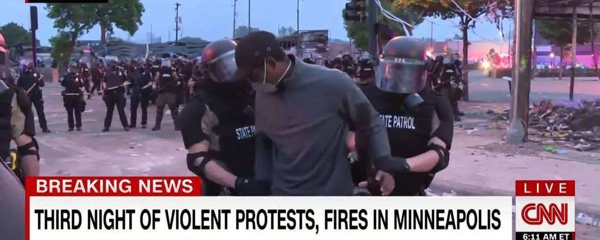 Jornalista preso durante cobertura de protestos em Minneapolis