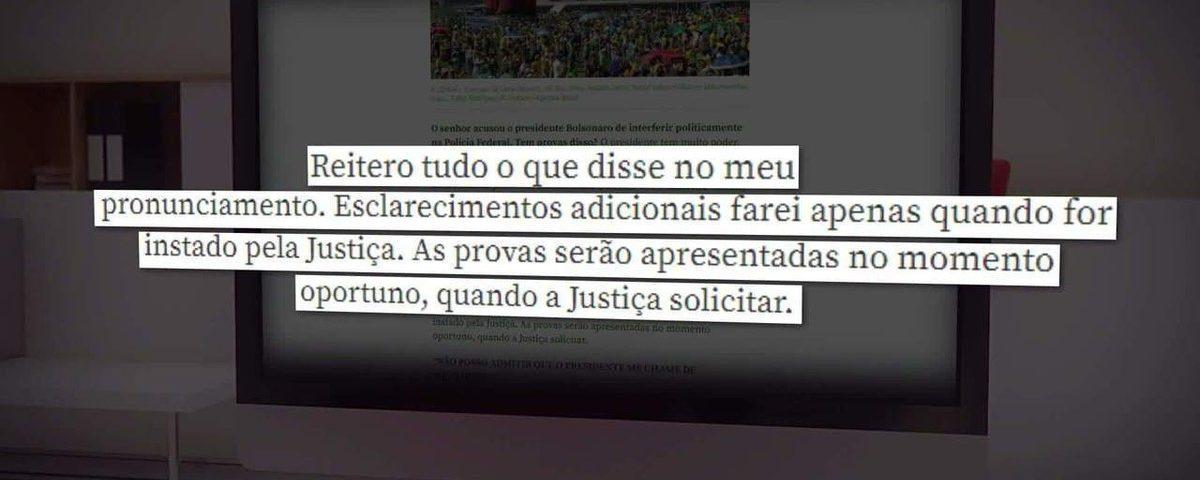 Moro diz que apresentará evidências das tentativas de Bolsonaro de interferir na Polícia Federal