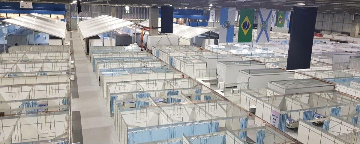 Rio abre Hospital de Campo no Riocentro com 400 leitos abaixo da capacidade