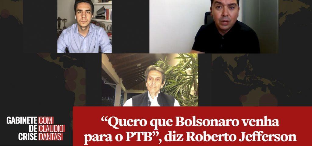 """ENTREVISTA: """"Quero que Bolsonaro venha ao PTB"""", diz Roberto Jefferson"""
