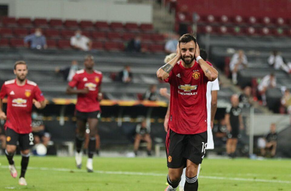 Liga Europa: Pênalti marcado para o Manchester United provoca revolta nas redes sociais